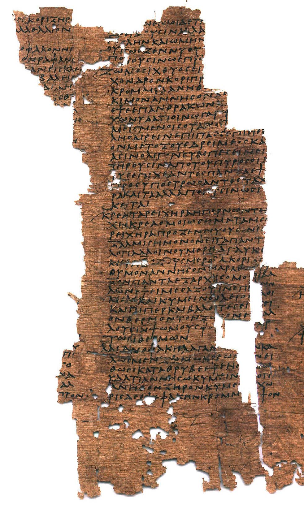 Greek papyrus (Heidelberg Papyrus inv. 1701 a.b.c) fragment with Krea Tareikhera recipe - Col. I-II (= col. VI-VII of the roll) - G_1701Ri-ii