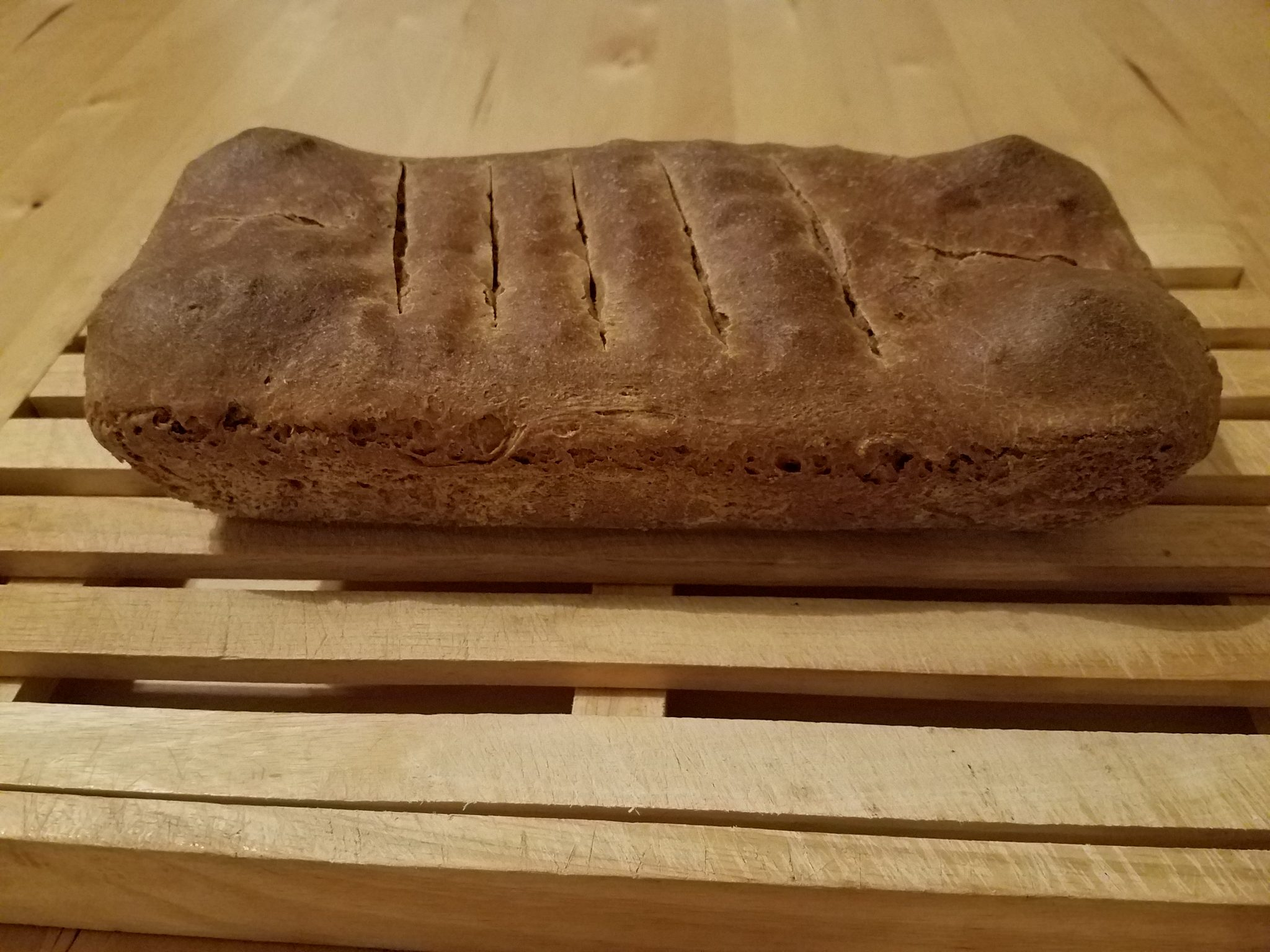 Shtei HaLechem Loaf - 1st Attempt