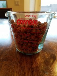 1 - Place all of the Tiger Nuts into a glass container