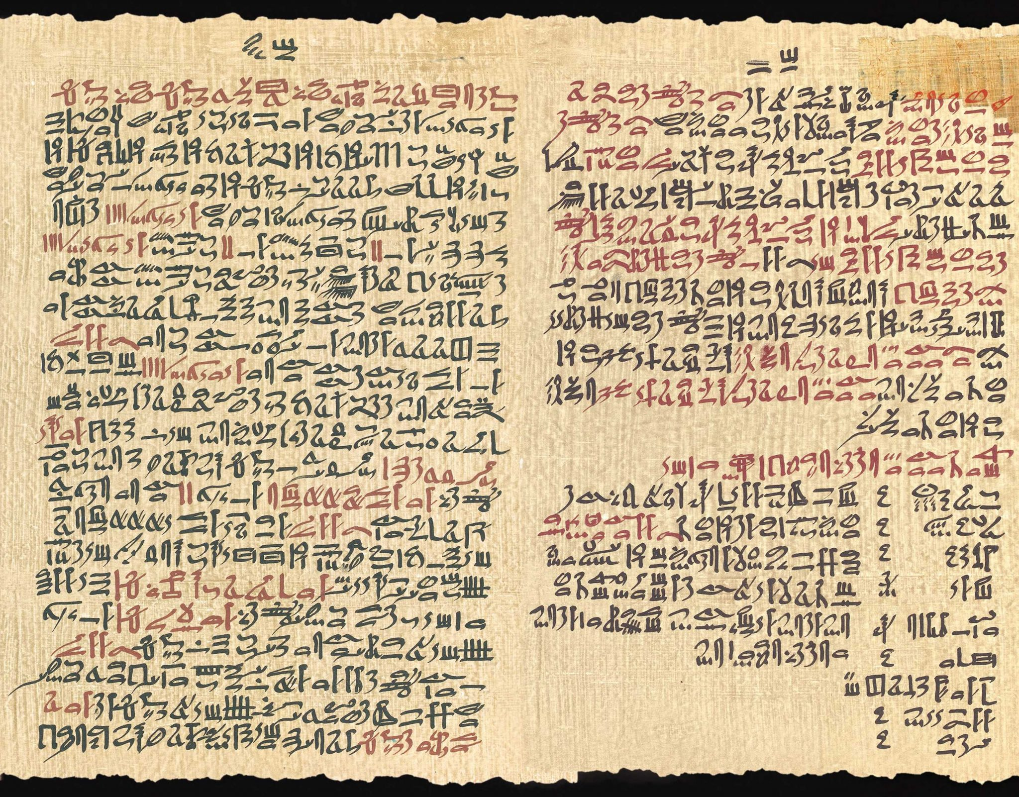 Papyrus Ebers, Columns 98-99 with the Kyphi Recipe.